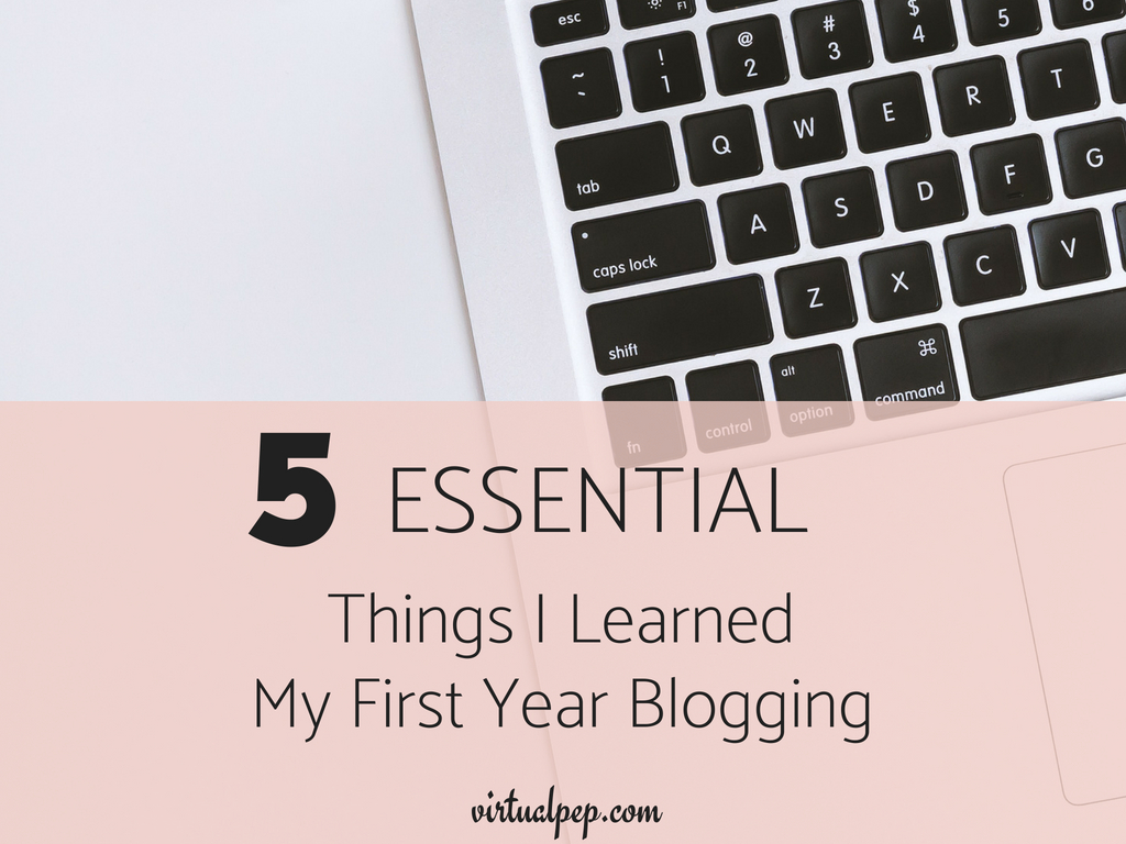 I'm sharing the five (5) most important things i learned after my first year of blogging.