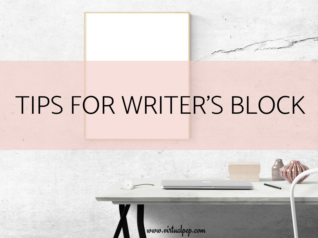 These tips for writer's block will help you get those creative juices flowing.
