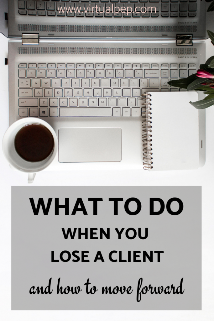 What to do if you lose a client. Blog post graphic.