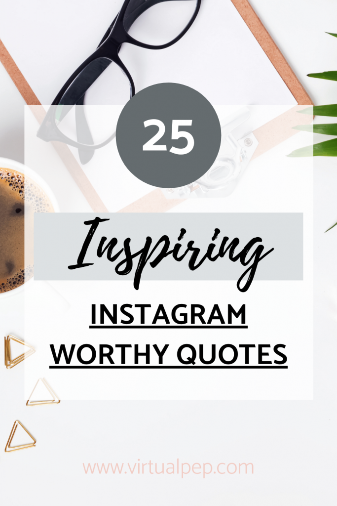 Pinterest post of inspiring quotes.